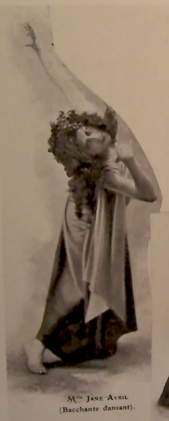 Jane Avril performing, Bacchante dansant.