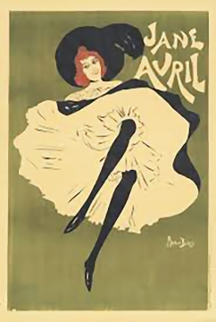 Jane Avril, poster by Maurice Blais, 1885.