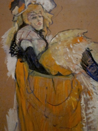 Jane Dancing, detail. Toulouse-Lautrec 1893.