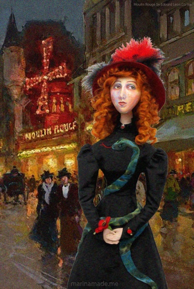 Jane muse at Moulin Rouge by Edouard Leon Cortes.