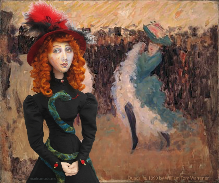 Jane muse remembering the 'Quadrille', a painting by William Tom Warrener, 1890.