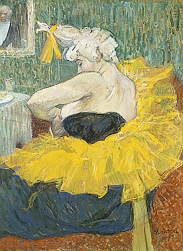 La Clownesse in dressing room, Cha-u-kao, by Toulouse-Lautrec.