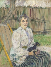 Lady with a dog (Portrait of Madame Fabre at Arcachon) 1891, Henri de Toulouse-Lautrec.