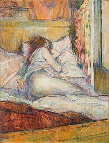 Le Lit, 1898, by Henri de Toulouse Lautrec.