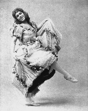May Milton, cabaret dancer. 1895.
