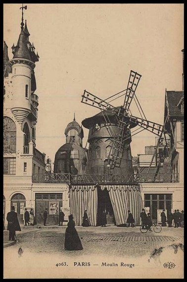 Moulin Rouge 1890, at the time when Jane Avril was a regular dancer and one of the main attractions.