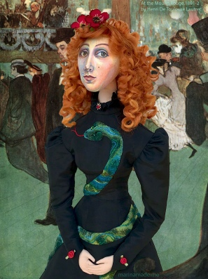 Muse of Jane Avril after her dance at the Moulin Rouge 1891-92, by Henri de Toulouse-Lautrec.