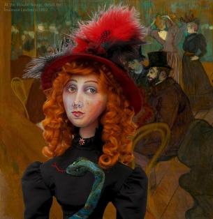 Muse of Jane 'At the Moulin Rouge' c. 1892, by Henri de Toulouse-Lautrec.