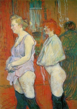 Rue Des Moulins, The Medical Inspection By Henri De Toulouse-Lautrec, 1894.