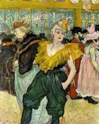 The Clowness Cha-U-Kao, 1895 Oil on canvas by Henri de Toulouse-Lautrec.