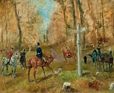 The Crossroads, an early painting by Toulouse-Lautrec, 1883.