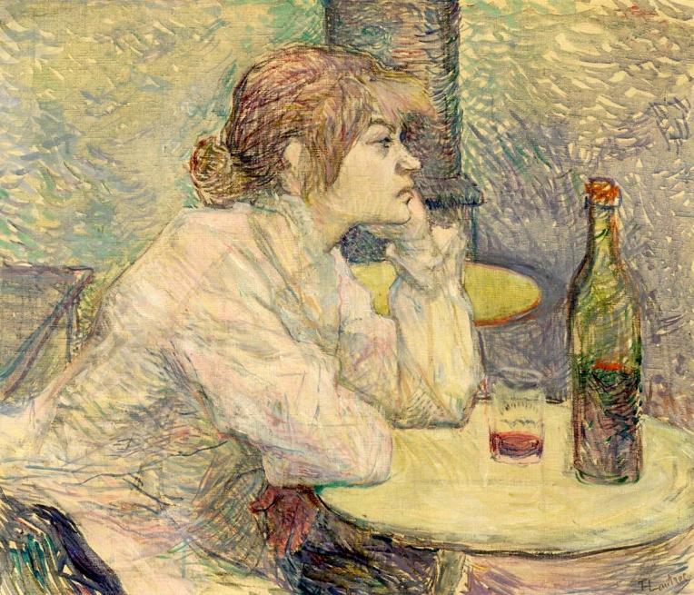 'The Hangover, Suzanne Valadon', by Henri de Toulouse-Lautrec, 1889.