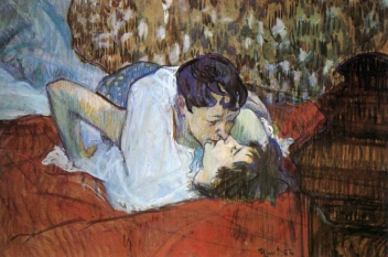 The Kiss, 1892 by Henri de Toulouse-Lautrec.