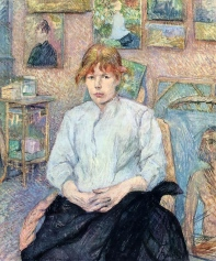 The Redhead With A White Blouse, by Henri de Toulouse-Lautrec.
