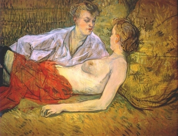 The Two Friends, 1895, by Henri de Toulouse-Lautrec.