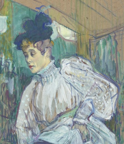 Detail of Jane Avril Dancing, Toulouse-Lautrec, 1892.