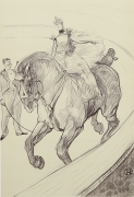 'The Circus Rider', drawing by Henri de Toulouse-Lautrec.