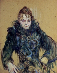 'Woman in a Black Boa' by Toulouse-Lautrec, 1892.