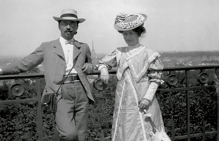 Gabriele Münter and Wassily Kandinsky in Sèvres - 1906