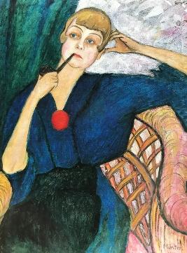 Anna Roslund, 1917 by Gabriele Münter.