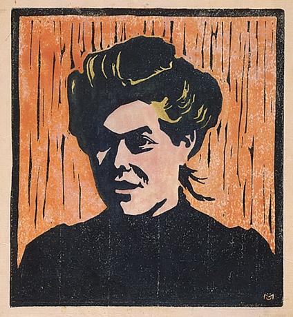 Aurelie, woodcut by Gabriele Münter ,1906.