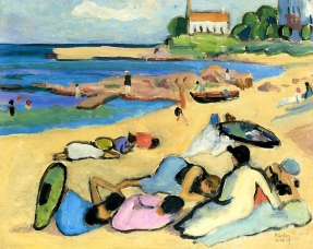 Beach at Bornholm, 1919, Gabriele Münter.