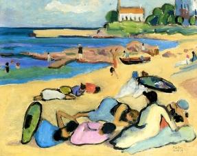Beach at Bornholm, 1919, Gabriele Münter.