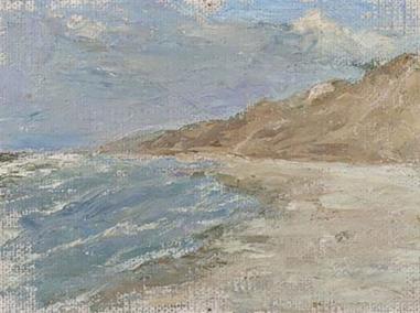 Coastal landscape near Tunis, Gabriele Münter, 1906