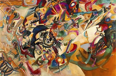 Composition VII, Kandinsky, 10' x 6', 1913.