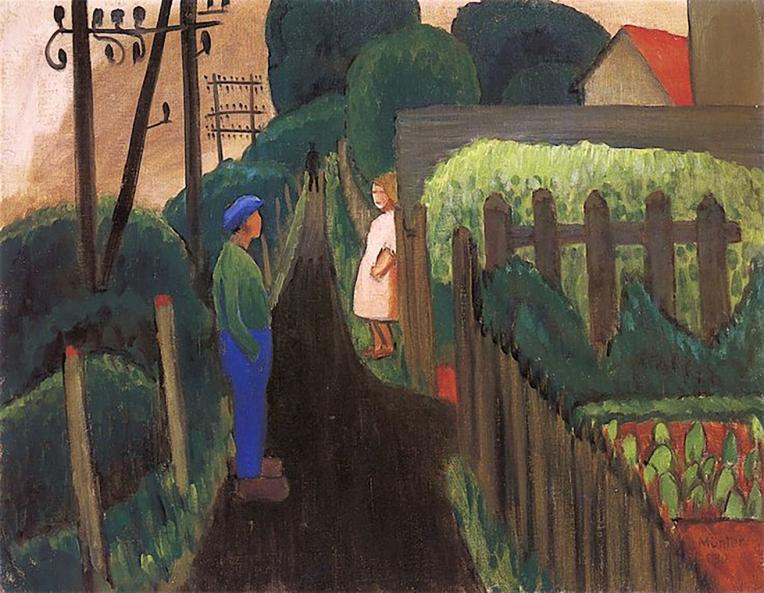 Dark Path, 1930, Gabriele Münter.