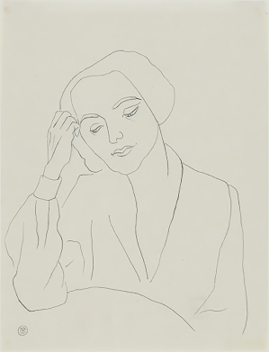 Portrait of a woman, by Gabriele Münter.