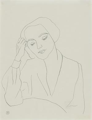 Portrait of a woman, by Gabriele Münter.