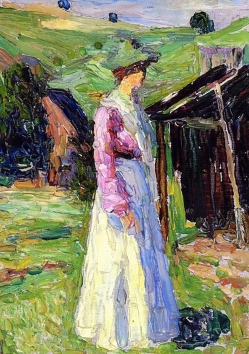 Gabriele Münter at Kochel, by Wassily Kandinsky.