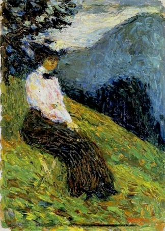 Gabriele Münter, 1902, by Wassily Kandinsky.