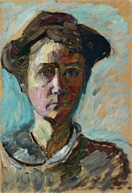 Gabriele Münter self portrait, 1908.