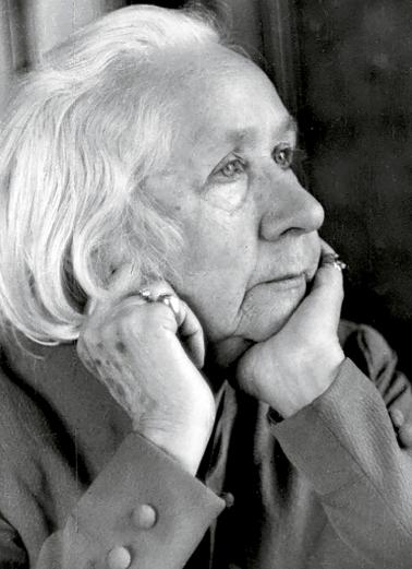 Photograph of Gabriele Münter, 1952.