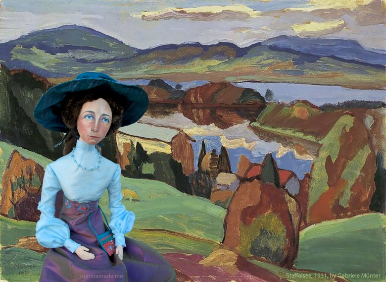 Staffelsee 1931, by Gabriele Münter, with muse by Marina.