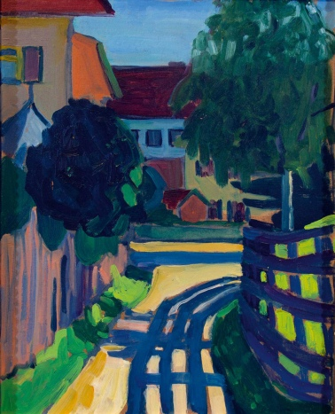 Gabriele Münter, Zaunschatten, fence shadow, 1908.