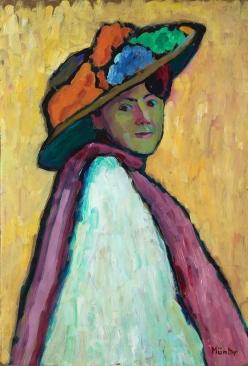 Portrait of Marianne von Werefkin, 1909, Gabriele Münter.
