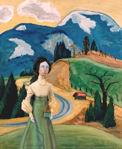 Gabriele muse in Winding road, 1913, Gabriele Münter.