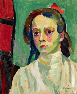 Girl with red bow, 1908, Gabriele Münter