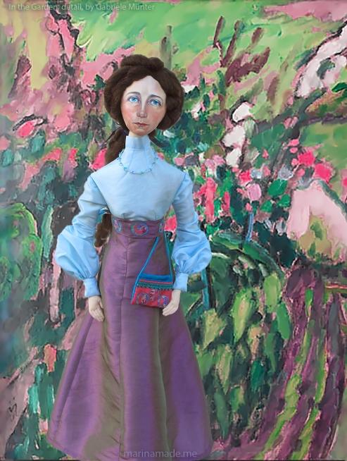 Muse in the Garden detail, Gabriele Münter, 1911.