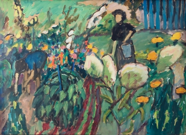 In the Garden in Murnau, by Gabriele Münter, 1911.