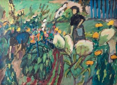 In the Garden in Murnau, by Gabriele Münter, 1911.