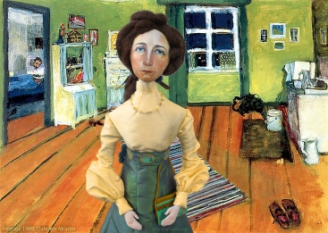 Interior, 1909, Gabriele Münter, with muse by Marina Elphick.