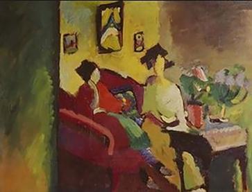 Interior, Gabriele Münter and Marianne von Werefkin, 1910, Kandinsky.