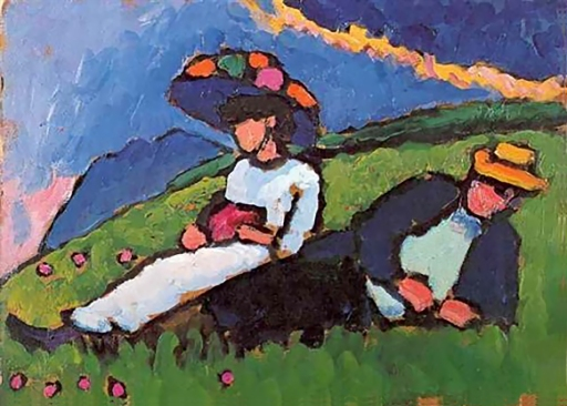 Jawlensky and Werefkin, 1908 by Gabriele Münter.