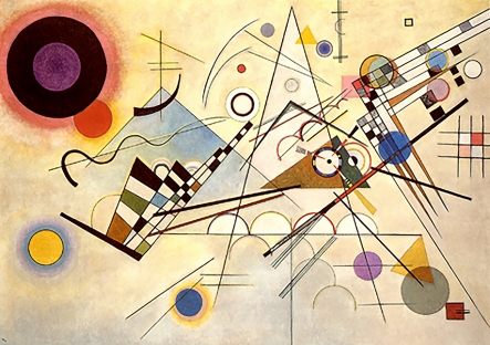 Kandinsky, Composition VIII, 1923.