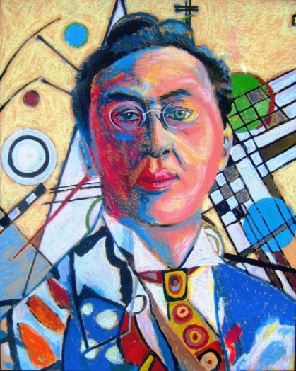 Kandinsky self portrait, 1937.