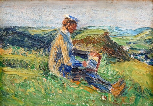 Kandinsky, writing in landscape, 1903, Gabriele Münter.